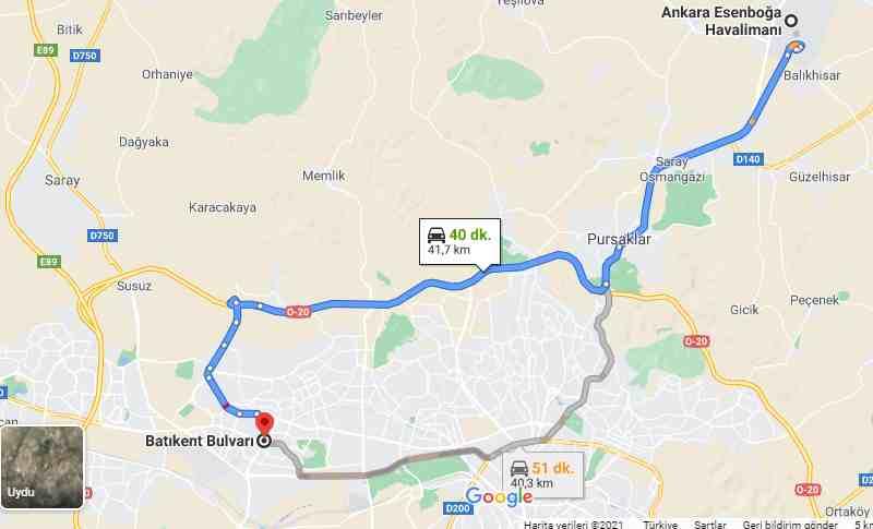 Batıkent-Esenboga-Havalimani-Transfer